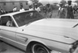 """Car driving by participants in the """"March Against Fear"""" through Mississippi, begun by James Meredith."""