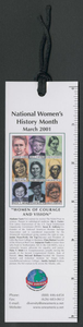 One America bookmark celebrating women's history Helen Snapp Collection
