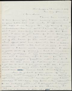 Letter from Deborah Weston, New Bedford, [Mass.], to Anne Warren Weston, December 1, 1839, Sunday afternoon