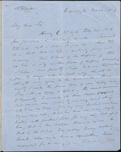 Letter from William Robson, Warrington, [England], to William Lloyd Garrison, 1859 March 3