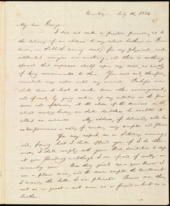 Letter from William Lloyd Garrison, Brooklyn, [Conn.], to George William Benson, July 10, 1834