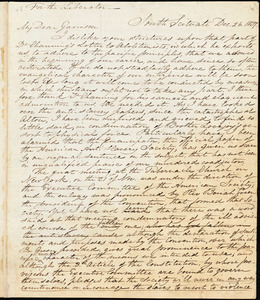 Letter from Samuel Joseph May, South Scituate, [Massachusetts], to William Lloyd Garrison, 1837 Dec[ember] 26
