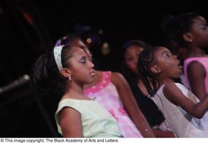 Young actresses perform in Aretha: The Musical Aretha: The Musical