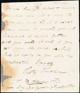 Letter from Thirty Truckmen, [Boston, Massachusetts?], to William Lloyd Garrison and Isaac Knapp, [1835?]