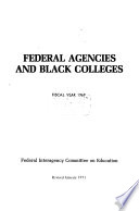 Federal agencies and black colleges
