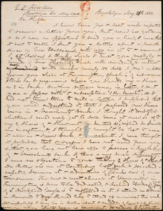 Letter from George Jeffrey Tillotson, Brooklyn, [Conn.], to Amos Augustus Phelps, 1842 May 24th