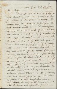 Letter from William Lloyd Garrison, New York, to Helen Eliza Garrison, Oct. 21, 1861