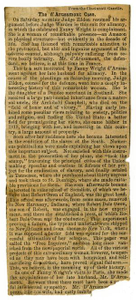 Clipping of d'Arusamont Case from the Cincinnati Gazette Charles B. Moore Family papers, 1832-1917