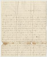 Letter to Doctor Edward Bradford from Rebecca B. Bradford
