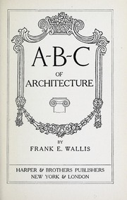 A-B-C of architecture