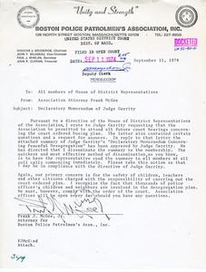 Memorandum Regarding Declaratory Memorandum of Judge Garrity