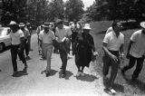 "Martin Luther King, Jr., Fannie Lou Hamer, Andrew Young, and others, participating in the ""March Against Fear"" through Mississippi, begun by James Meredith."