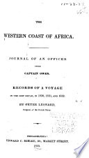 The western coast of Africa Journal of an officer under Captain Owen. Records of a voyage in the ship Dryad, in 1830, 1831, and 1832