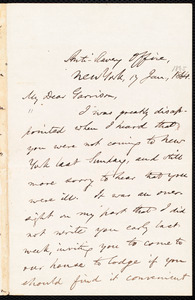 Letter from Oliver Johnson, New York, [N.Y.], to William Lloyd Garrison, 17 Jan[uary], 1865
