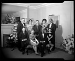 [Addison and Mamie Scurlock with sons and grandchildren at Addison and Mamie's 5oth anniversary party : acetate film photonegative,] 11/18/62
