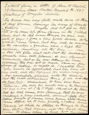 Extract of letter of Ann[e] W. Weston [manuscript]