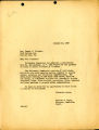 Acknowledgment letter of 1947 January 20