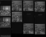 Set of negatives by Clinton Wright including Veteran News - Carpenters Local, woman at Landmark, Girl Scouts at Creg, Committee at Union Plaza, and Post 1007 banquet, 1971