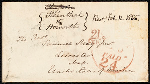 Letter from S. Alfred Steinthal, Bridgewater, [England], to Samuel May, January 23rd, 1855