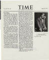 "Offprint of article on Sammy Davis, Jr., ""Nice Fellow,"" TIME magazine, April 18, 1955"