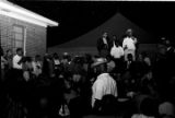 "Man addressing an audience at a night gathering during the ""March Against Fear"" through Mississippi, begun by James Meredith."