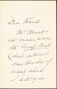 Letter from Wendell Phillips to Francis Jackson Garrison, [1878 February 18]