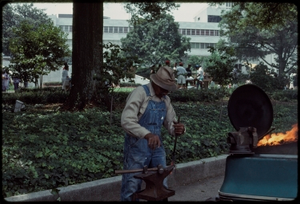 Thumbnail for Atlanta, Georgia, 1988: National Black Arts Festival. African American blacksmith