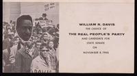 Leaflet. William R. Davis for State Senate