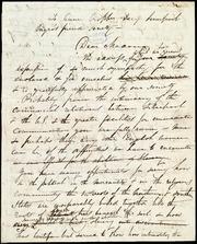 Rough draft of letter] To Anne Cropper, Sec'y Liverpool Negro's Friend Society, Dear Madam [manuscript