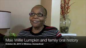Mae Willie Lumpkin and family, Oral history interview on 1970s Lumpkin school desegregation case (2014)