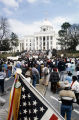 Marchers in front of the Capitol in Montgomery, Alabama, at the conclusion of the 20th anniversary reenactment of the Selma to Montgomery March.