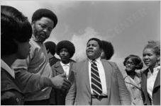 Hosea Williams and Joe Boone at Holy Family Hospital, circa 1972