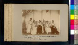 Group of six women, all of which are Spanish-Visayan mestizos except the first : Dumaguete, Eastern Negros -- 1901