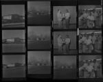 Set of negatives by Clinton Wright including Jackson Barbershop employees, house on 400 W. Miller, and house on corner 600 N. 1st street, 1971