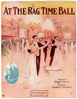 At the rag time ball / words by Roger Lewis music by Jimmie V. Monaco