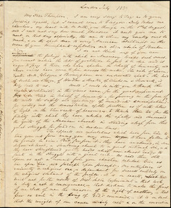 Letter from Wendell Phillips, London, [England], to George Thompson, [1839] July