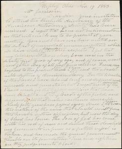 Letter from John Rankin, Ripley, Ohio, to William Lloyd Garrison, 1863 Nov[ember] 19