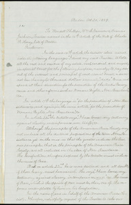 Letter from William C. Brown, Boston, [Mass.], to William Lloyd Garrison, Wendell Phillips, and Francis Jackson, Oct. 20, 1859