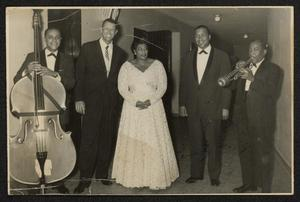 Bill Yancey (probable), Paul Smith, Ella Fitzgerald, Gus Johnson, and Roy Eldridge