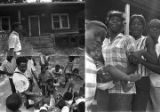 Images of Norman Lumpkin speaking to residents in a neighborhood.