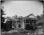 Arkansas pavilion during construction
