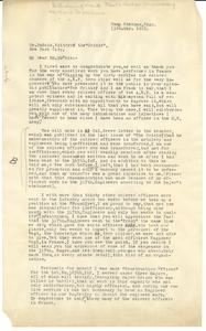 Letter from James O. Jones to W. E. B. Du Bois