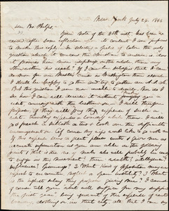 Thumbnail for Letter from William Cochrane, New York, to Amos Augustus Phelps, July 24. 1846