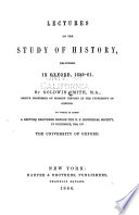 Lectures on the study of history, delivered in Oxford, 1859-61