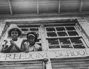 African American girls in a freedom school