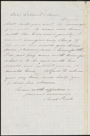 Letter to] Dear Richard [manuscript