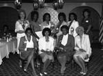 Crenshaw La Tijera Business Women's Association members posing for a group portrait, Los Angeles, 1982