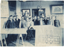Cass Gilbert and staff during construction of the State Capitol, St. Paul.