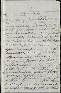 Letter from Charles F. Hovey, Paris, [France], to Mary Anne Estlin, 1854 May 6