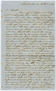 Letter from John Patterson Osterhout to his Brother, October 19, 1859